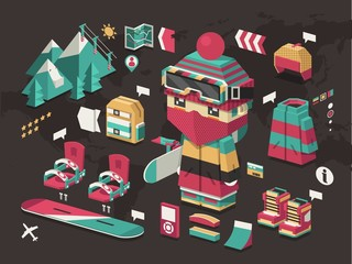 Isometric snowboarding kit