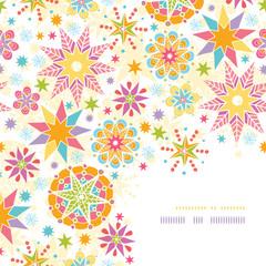 Vector colorful Christmas Stars Corner Decor Pattern Background