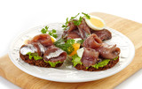 sandwiches with anchovies and egg