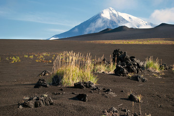 volcanic landscape on Kamchatka, Russia