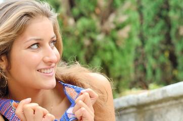 Jolie jeune fille européenne