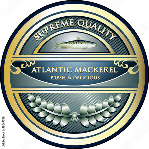 Atlantic Mackerel Supreme Quality Vintage Label