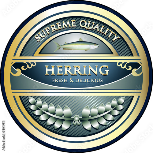 Herring Supreme Quality Vintage Label