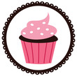 Cupcake in a Scalloped Circled - 58050100