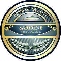 Sardine Supreme Quality Vintage Label