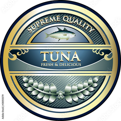 Tuna Supreme Quality Vintage Label