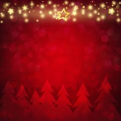 Weihnachtskarte mit goldenen Sternen