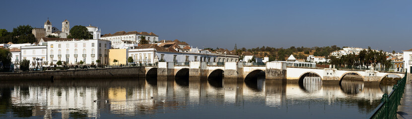 Roman bridge in Tavira, Algarve, Portugal.