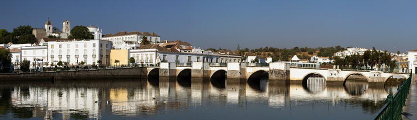 Roman bridge in Tavira, Algarve, Portugal.