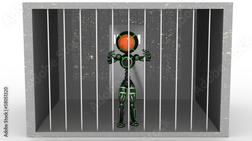 Man in jail behind bars #1