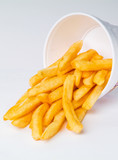 French Fries on a white background