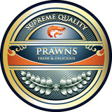 Prawns Supreme Quality Vintage Label