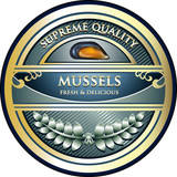 Mussels Supreme Quality Vintage Label