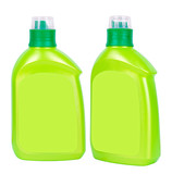 Green plastic bottles for liquid soap