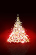 Christmas tree background with defocused lights
