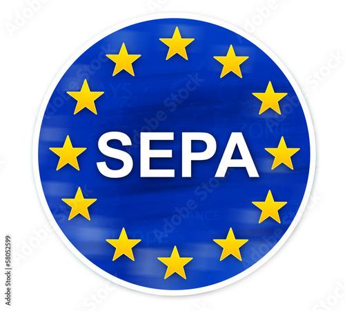 étiquette SEPA