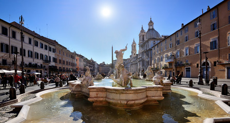 Piazza Navona, Neptune Fountain, Rome