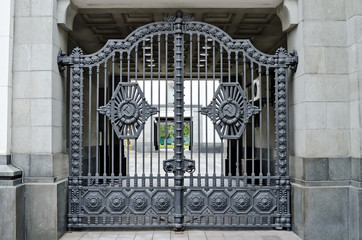 Gate with symbols of the USSR