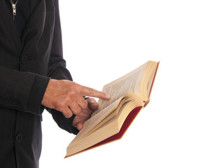 businessman with a book