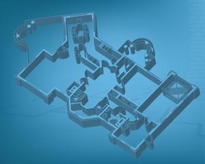 ground floor blueprint. vector illustration