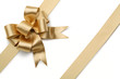 Gold ribbon with bow - 58056371