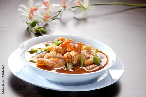 Thai Dishes - Tom Yam Kung asia food