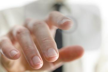 Touching virtual screen
