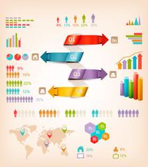 Set of Info graphics elements. Vector illustration