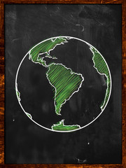 Green Earth on Blackboard