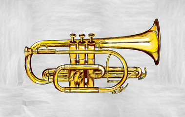 Trumpet Painting Image