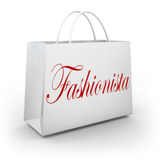 Fashionista Shopping Bag Buying Clothes Store Sale