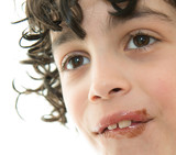 Child's Mouth Smeared with Chocolate