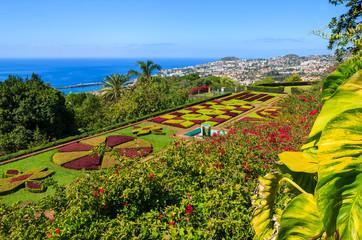 Tropical Botanical Gardens in Funchal town, Madeira island