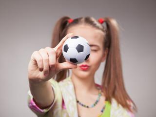 football fan beautiful young girl