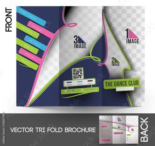 Dance Academy Tri-Fold Brochure Design