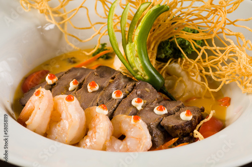 Asian Shrimp and Beef