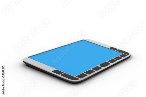 Tablet computer in white background