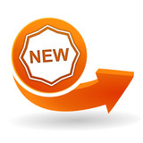 new sur bouton web orange