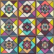 Retro pattern of geometric shapes. Colorful mosaic.
