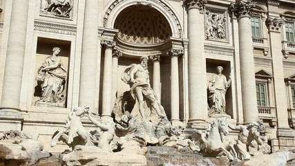 the famous Trevi Fountain Rome