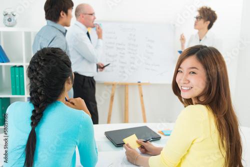Smiling learner