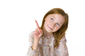 Studio portrait of eleven-year-old attractive girl