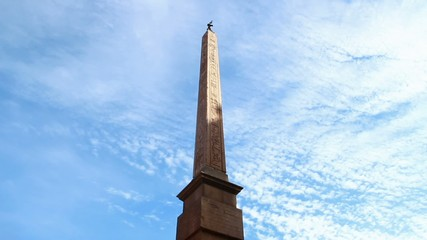Ancient Egyptian obelisk at Piazza Navona  in Rome