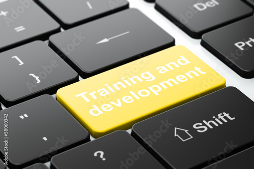 Education concept: Training and Development on keyboard