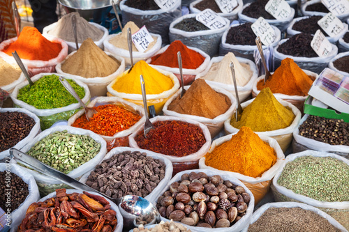 Poster Boodschappen Indian colorful spices