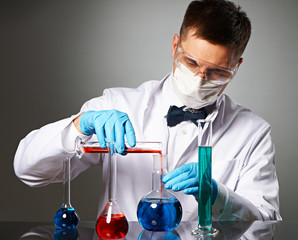 Scientist at laboratory