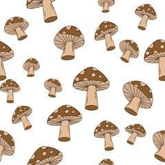 Seamless Mushroom Pattern!