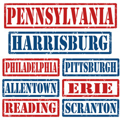 Pennsylvania Cities stamps