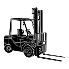 Forklift silhouette vector
