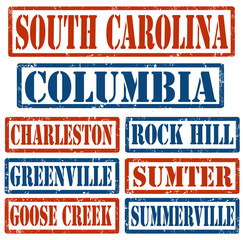 South Carolina Cities stamps